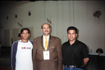 Nadeem Azhar at SAF games Pakistan